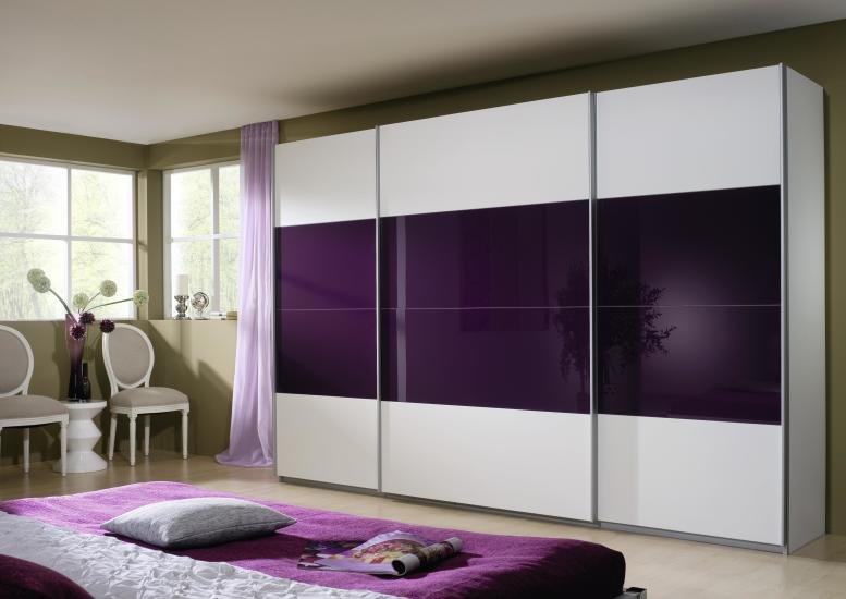 rauch schwebet renschrank quadra 3 t rig alpinweiss brombeer. Black Bedroom Furniture Sets. Home Design Ideas