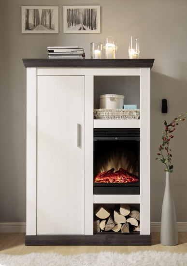 Highboard mit Kamineinsatz SIENA