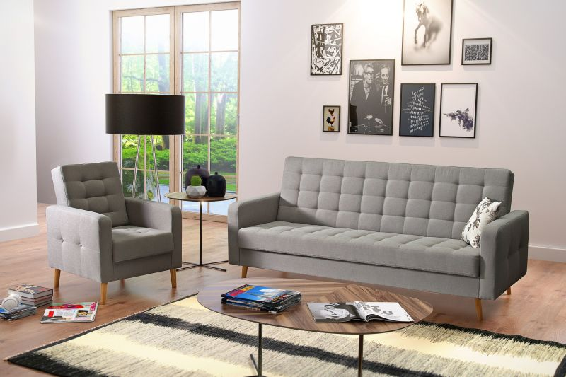 Polstergruppe Schlafsofa + Sessel CITY