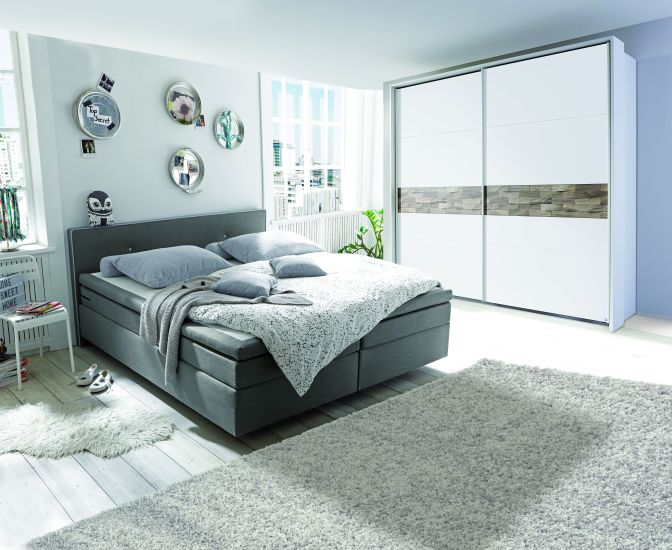 boxspringbett sao paulo 1 angebot 33 reduziert grau mega m bel. Black Bedroom Furniture Sets. Home Design Ideas