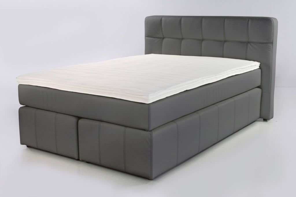 boxspringbett b rbel 180x200cm grau sb m bel discount. Black Bedroom Furniture Sets. Home Design Ideas