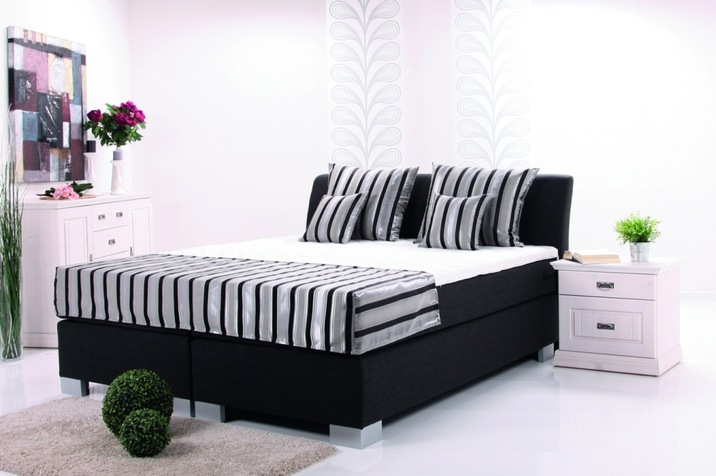 boxspringbett europa 180x200cm schwarz sb m bel discount. Black Bedroom Furniture Sets. Home Design Ideas