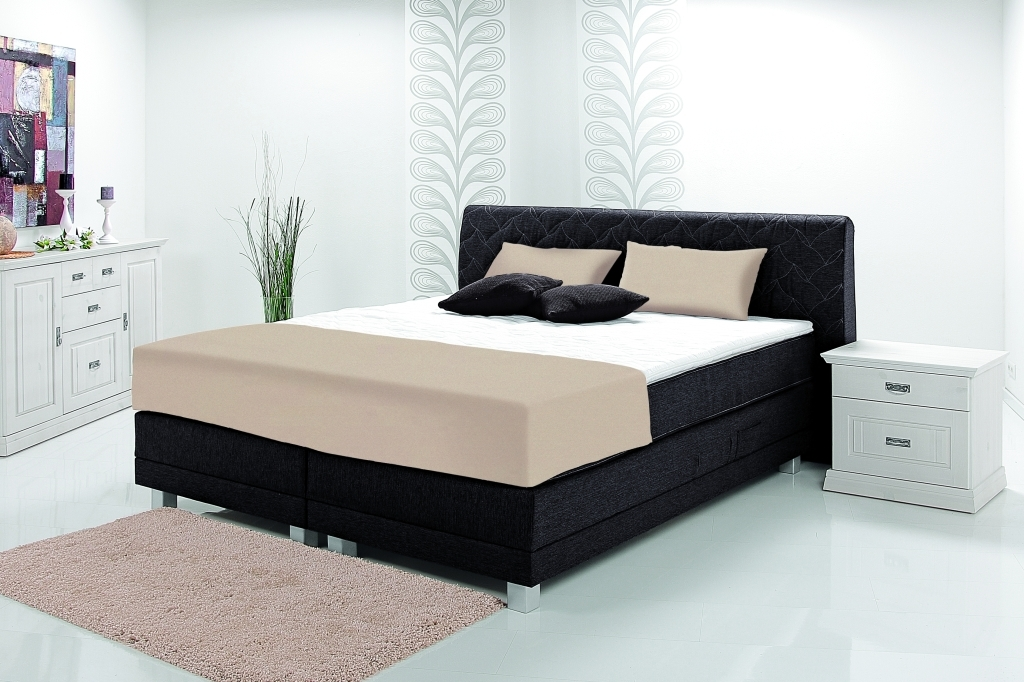 boxspringbett rio 180x200cm schwarz mega m bel. Black Bedroom Furniture Sets. Home Design Ideas