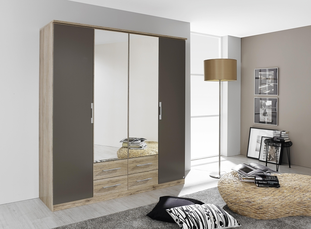 kleiderschrank gronau eiche sanremo hell lavagrau sb m bel discount. Black Bedroom Furniture Sets. Home Design Ideas