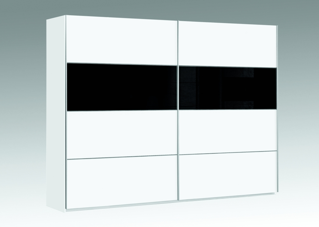 schwebet renschrank dreamliner wei schwarzglas sb m bel discount. Black Bedroom Furniture Sets. Home Design Ideas