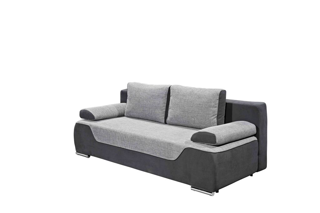 schlafsofa cleo schwarz grau 200 cm breit. Black Bedroom Furniture Sets. Home Design Ideas
