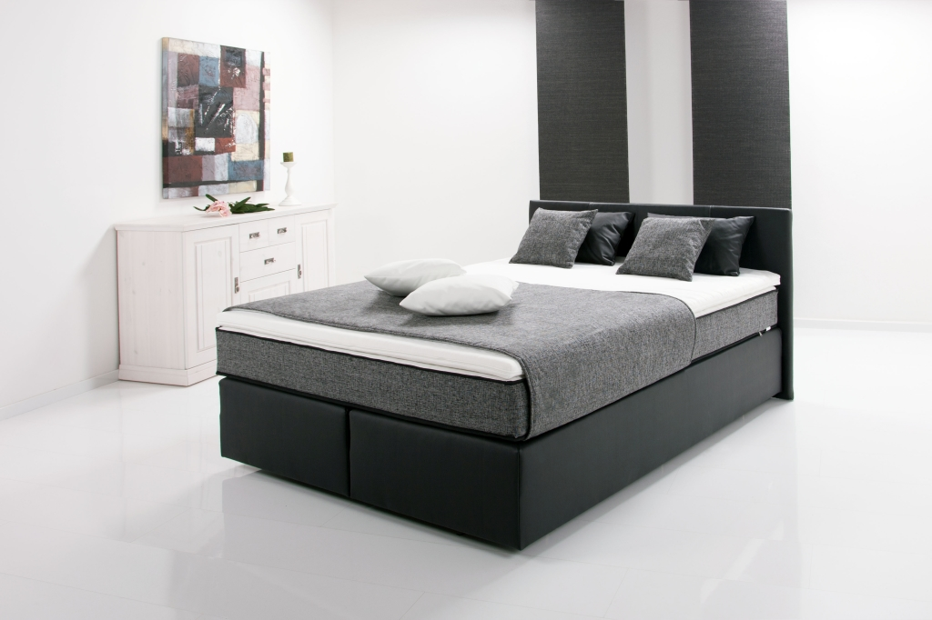 boxspringbett peach 140x200cm schwarz mega m bel. Black Bedroom Furniture Sets. Home Design Ideas