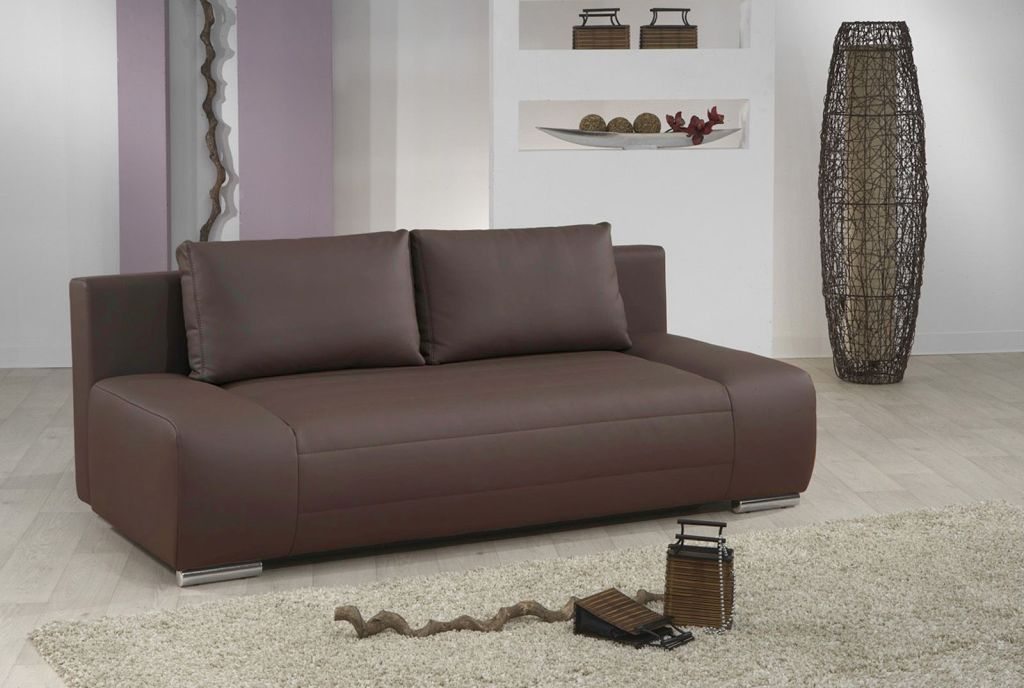 schlafsofa capello braun sb m bel discount. Black Bedroom Furniture Sets. Home Design Ideas