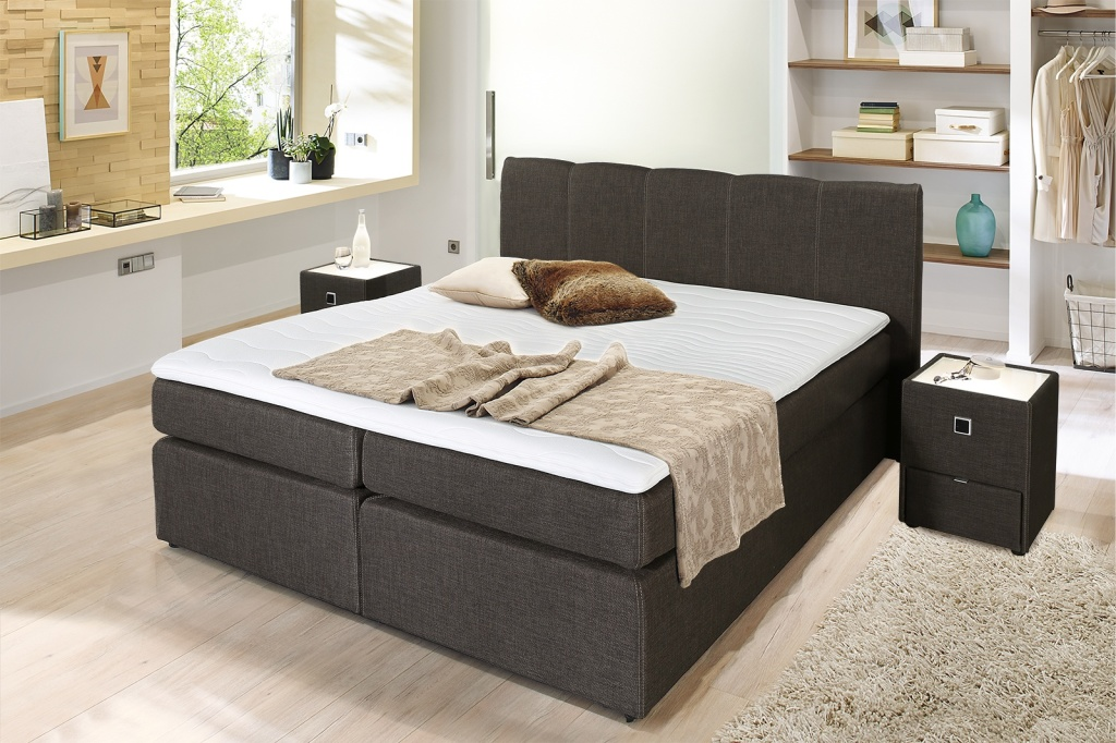boxspringbett heaven 180x200cm braun sb m bel discount. Black Bedroom Furniture Sets. Home Design Ideas