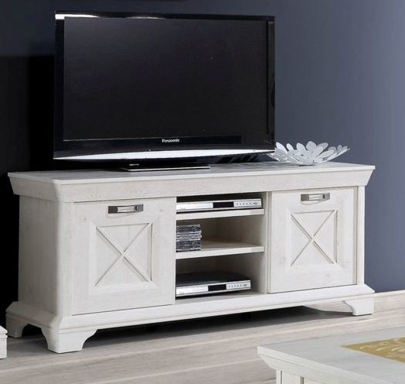 tv unterschrank kashmir 150 cm breit landhaus wei mit schubladen. Black Bedroom Furniture Sets. Home Design Ideas