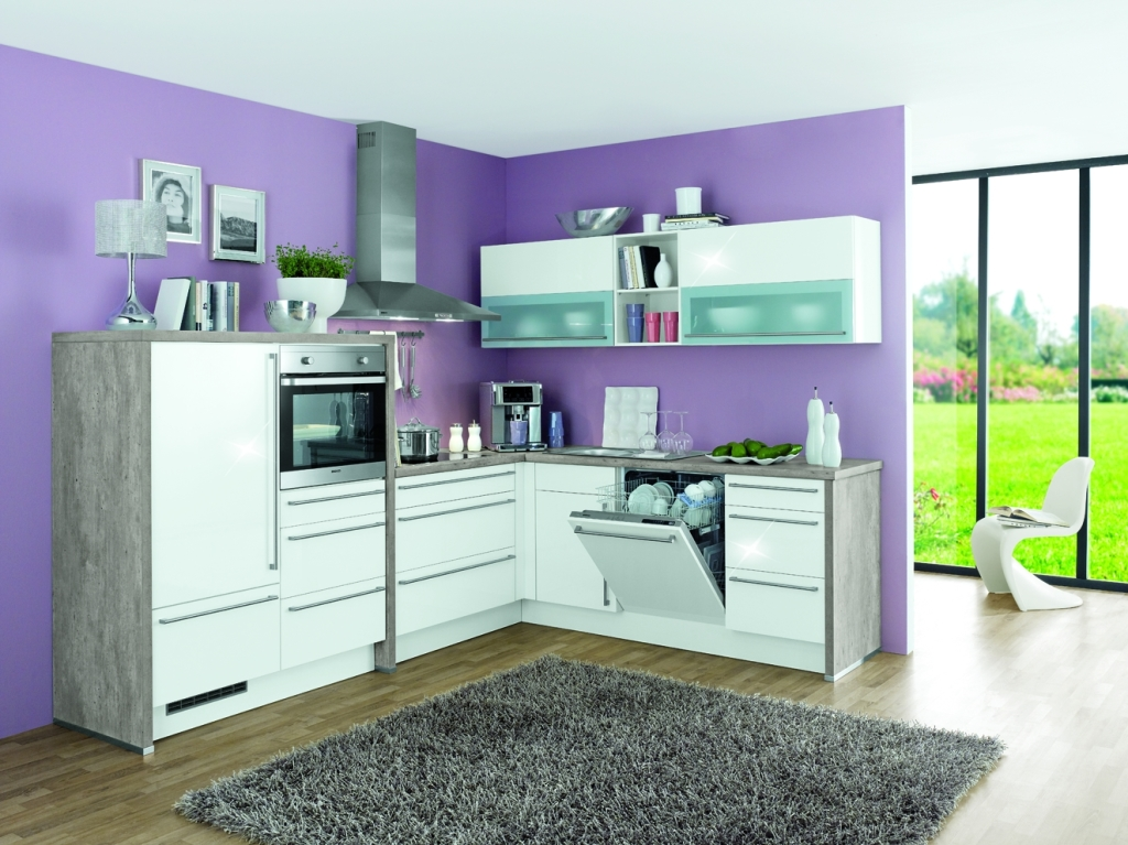 k che gloriette 341 weiss hochglanz grau sb m bel discount. Black Bedroom Furniture Sets. Home Design Ideas