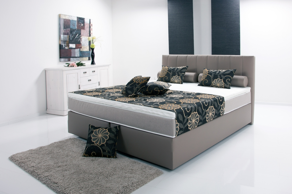 boxspringbett peach ii 180x200cm schlamm mega m bel. Black Bedroom Furniture Sets. Home Design Ideas