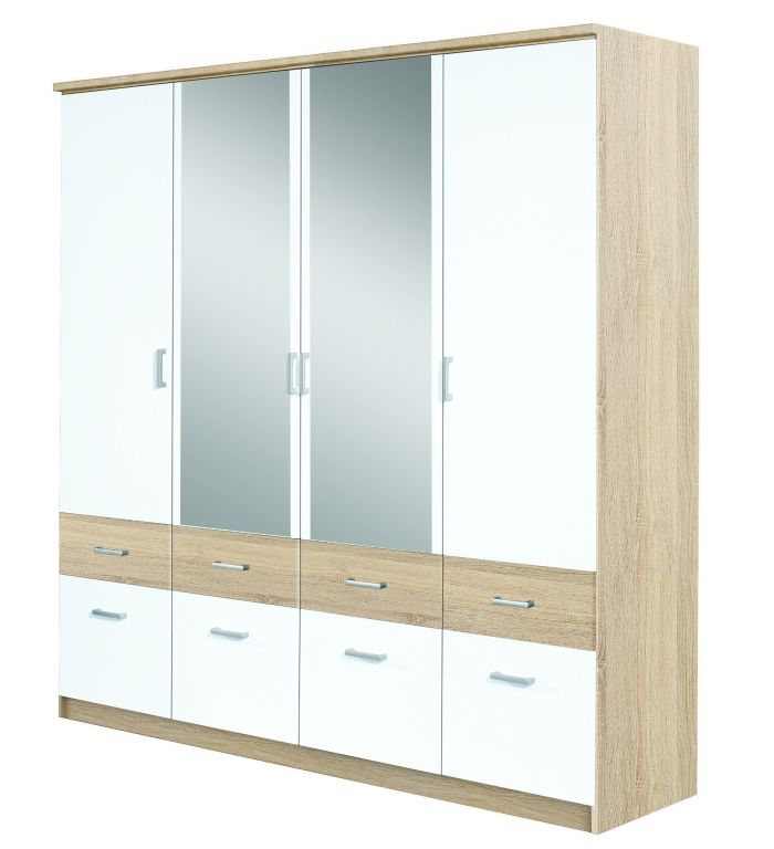 dreht renschrank bremen extra alpinwei eiche sonoma sb m bel discount. Black Bedroom Furniture Sets. Home Design Ideas