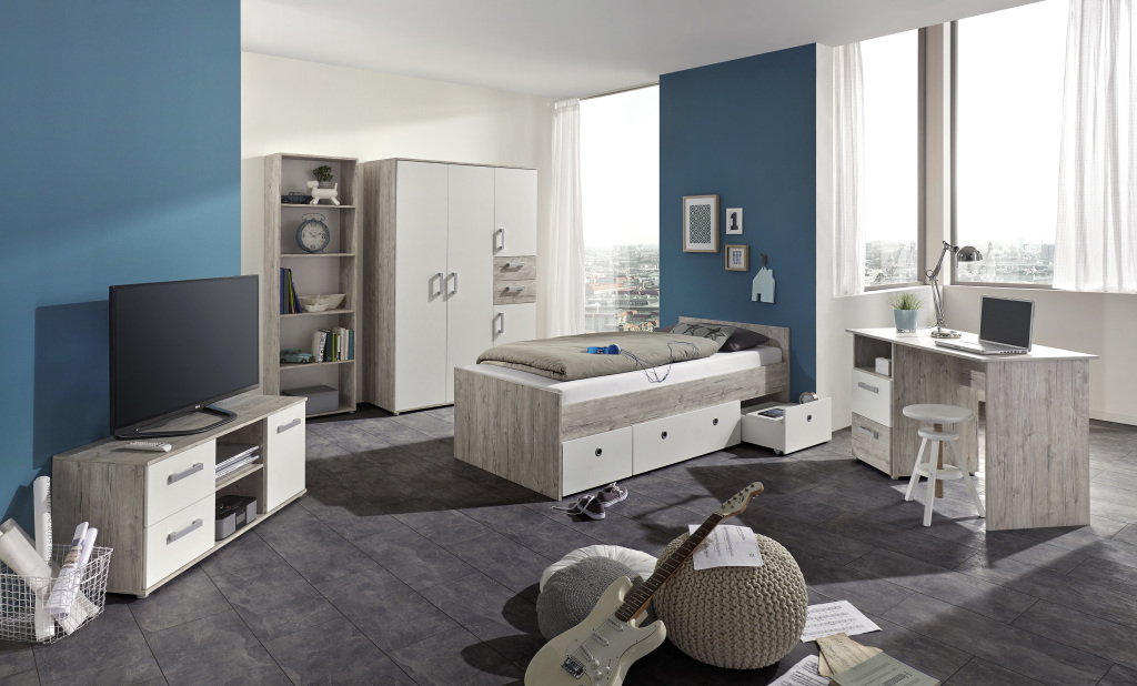 jugendzimmer mimi eiche sand wei sb m bel discount. Black Bedroom Furniture Sets. Home Design Ideas