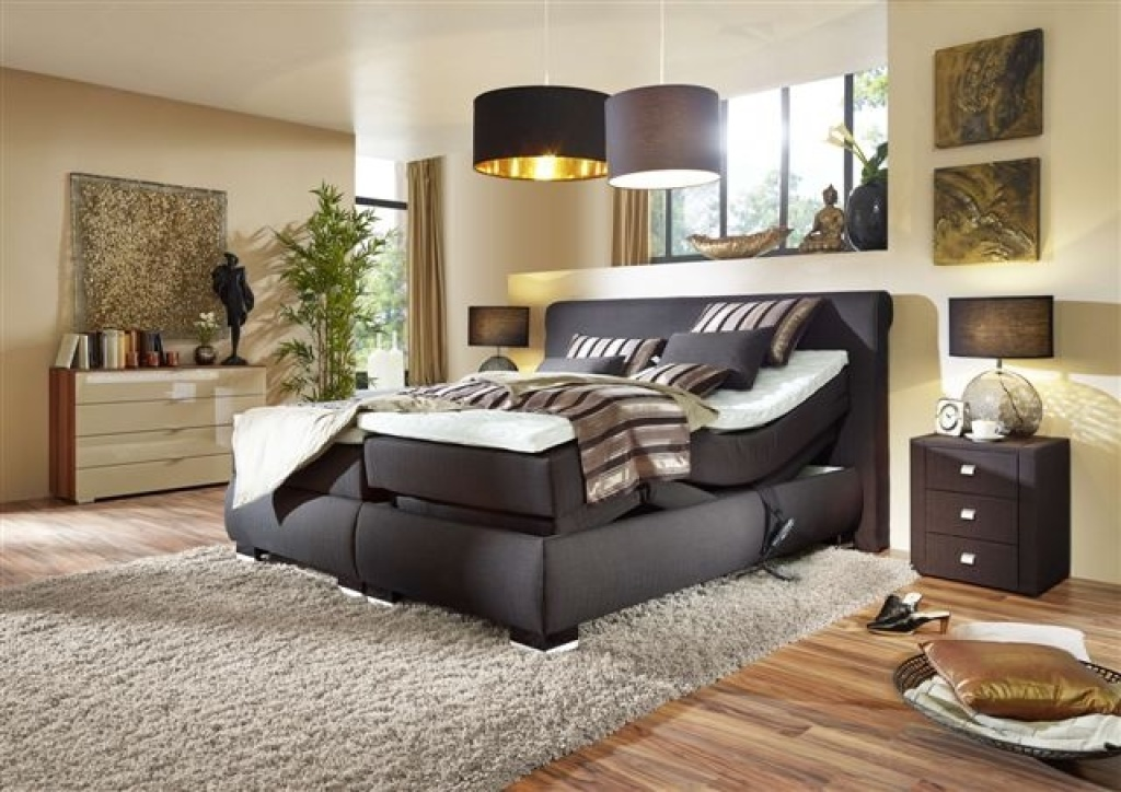 boxspringbett mit motor prestige i 180x200cm braun mega m bel. Black Bedroom Furniture Sets. Home Design Ideas