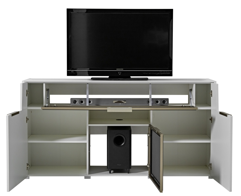 media sideboard median 180 cm breit modern wei. Black Bedroom Furniture Sets. Home Design Ideas