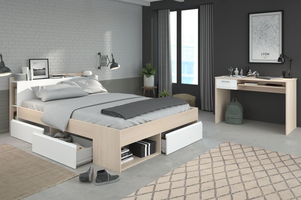 160 iger bett mit schreibtisch most 62 sb m bel discount. Black Bedroom Furniture Sets. Home Design Ideas