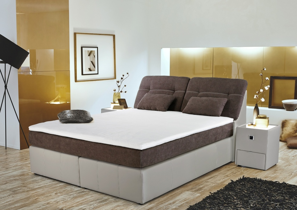 boxspringbett victoria se 180x200cm braun greige sb. Black Bedroom Furniture Sets. Home Design Ideas