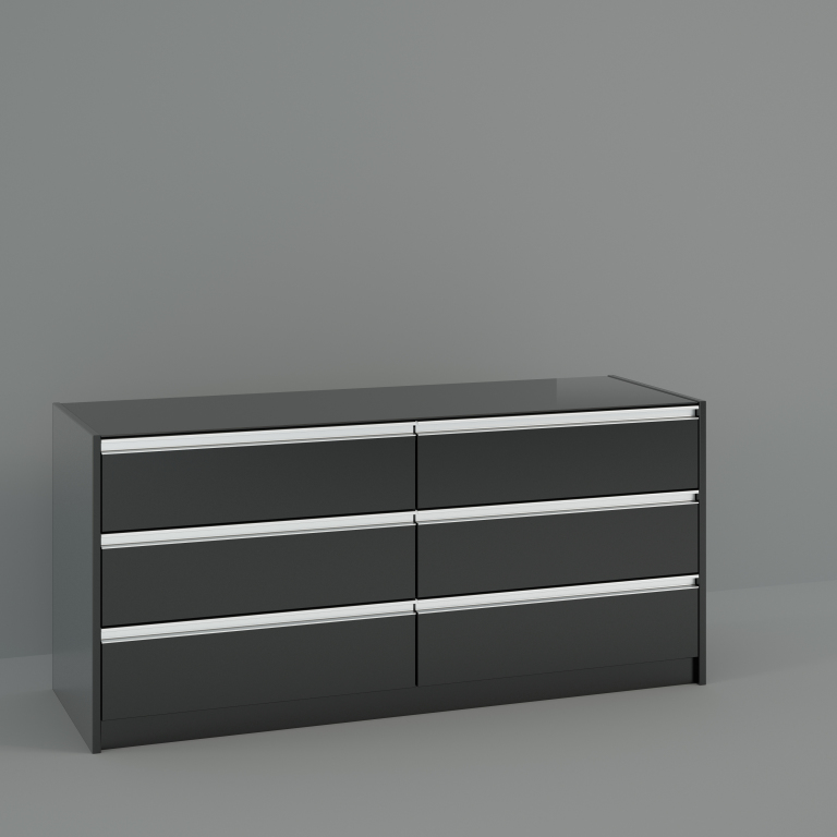 kommode skyline 019 modern schwarz braun holzt ne 140 cm 150 cm breit. Black Bedroom Furniture Sets. Home Design Ideas