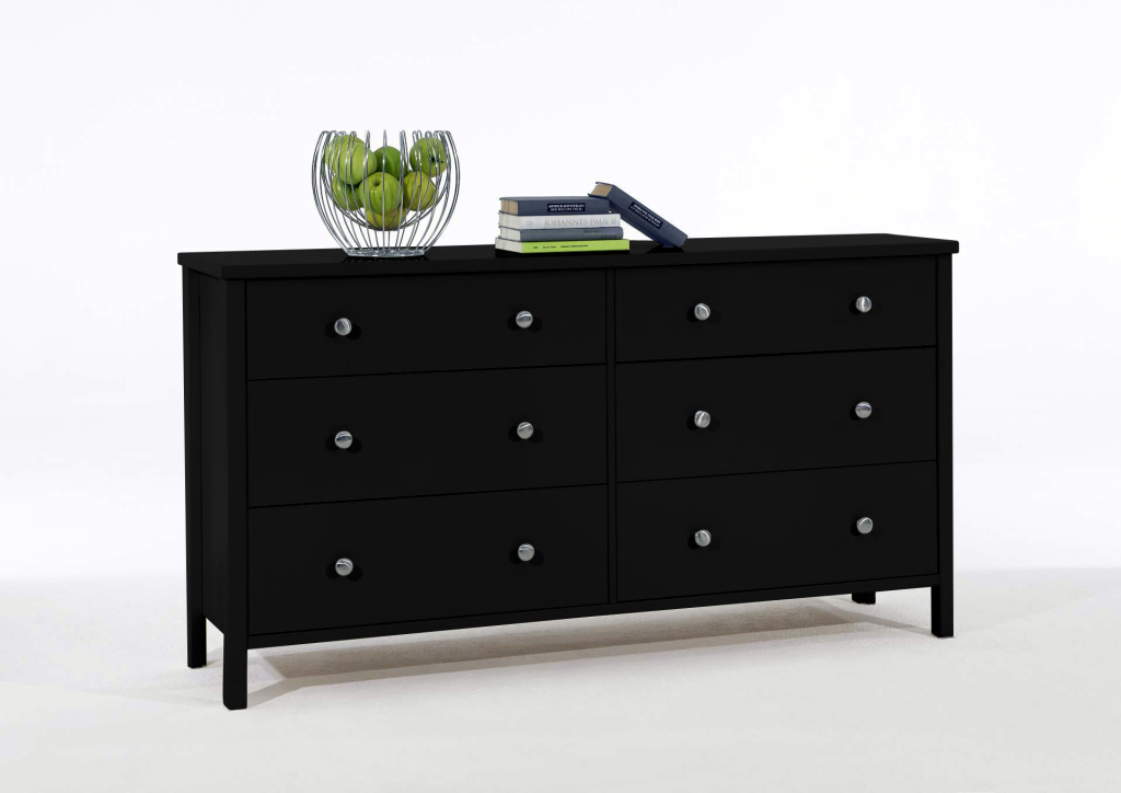 kommode stockholm 924 skandinavisch schwarz braun holzt ne 150 cm breit. Black Bedroom Furniture Sets. Home Design Ideas
