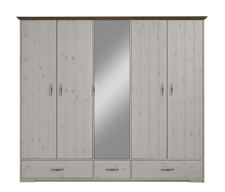 kleiderschrank hanstholm 115 kiefer massiv white wash sb m bel discount. Black Bedroom Furniture Sets. Home Design Ideas