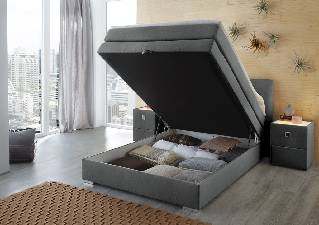 boxspringbett amelie 140x200cm braun sb m bel discount. Black Bedroom Furniture Sets. Home Design Ideas