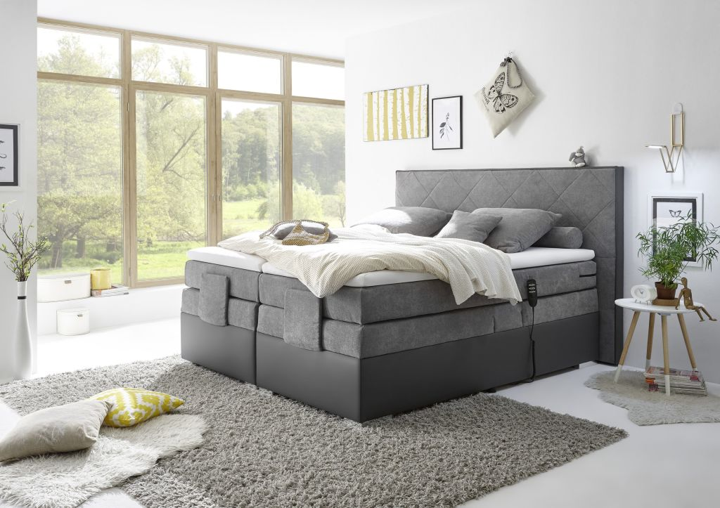boxspringbett trenton 3 180x200cm dunkelgrau sb m bel discount. Black Bedroom Furniture Sets. Home Design Ideas