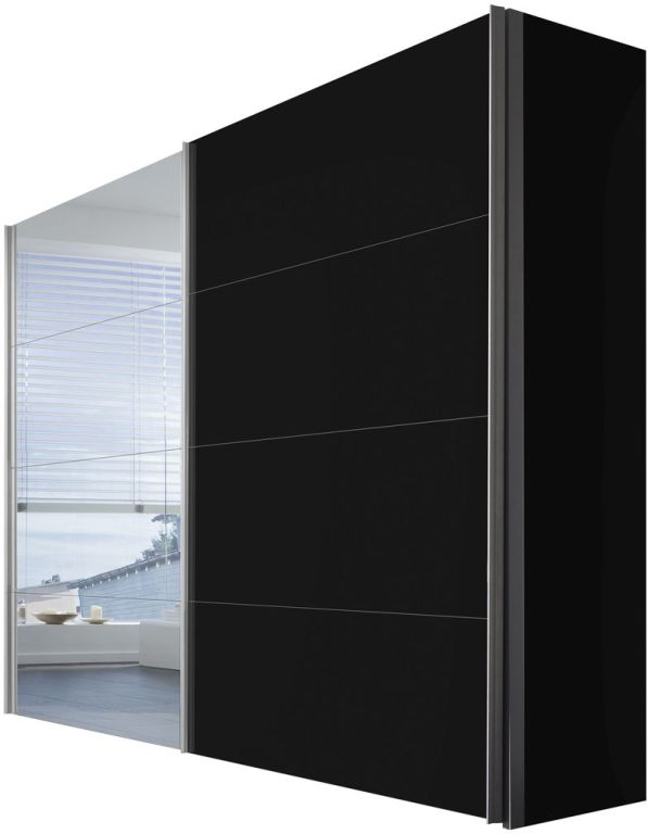 schwebet renschrank four you schwarz spiegel sb m bel discount. Black Bedroom Furniture Sets. Home Design Ideas