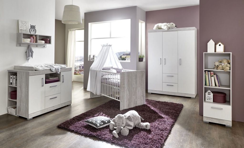 babyzimmer set werner pinie grau wei sb m bel discount. Black Bedroom Furniture Sets. Home Design Ideas