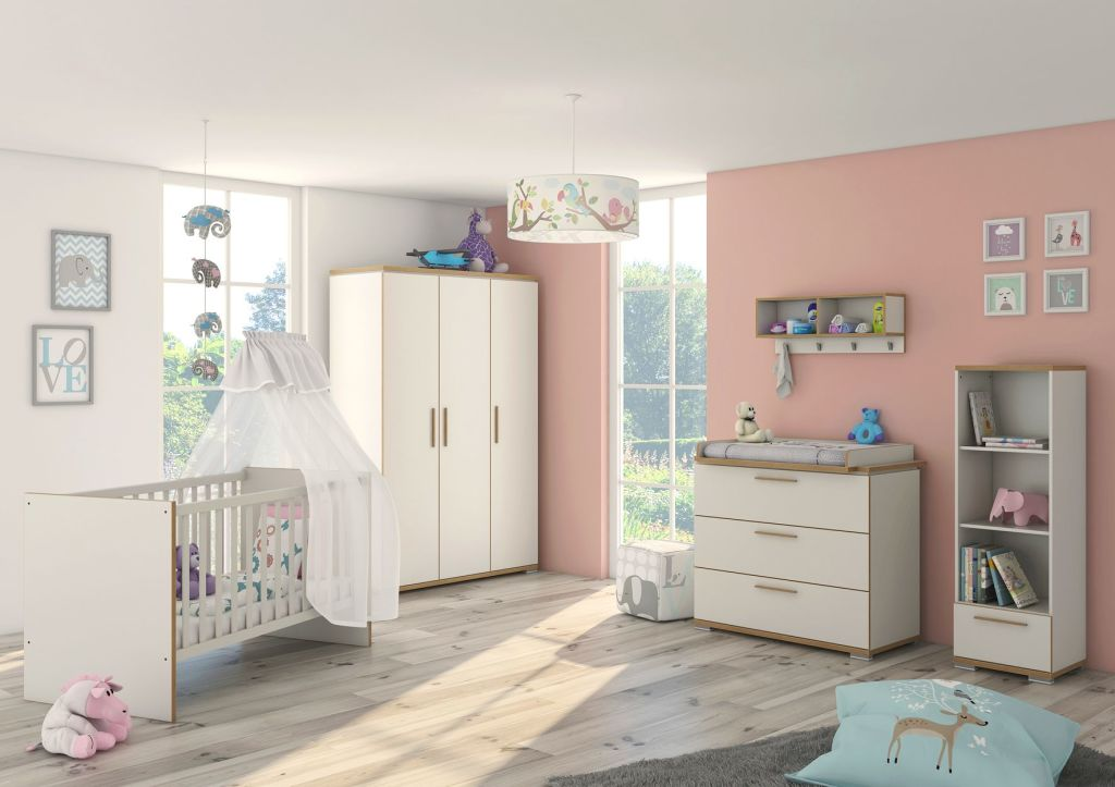 babyzimmer set paulina wei swiss ulme sb m bel discount. Black Bedroom Furniture Sets. Home Design Ideas