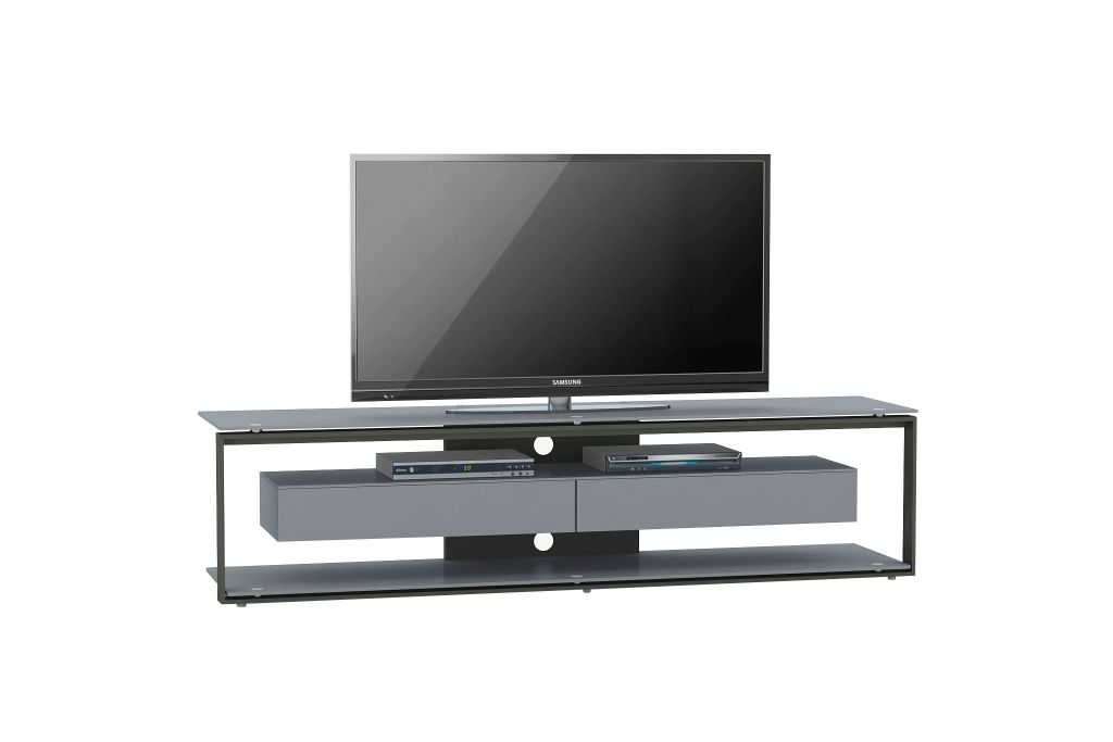TV-Rack 5206.7542 Metall platingrau-Schwarzglas | SB Möbel Discount