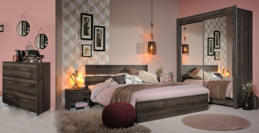schlafzimmer komplett set 5 teilig galaxy 302 walnuss komplette schlafzimmer. Black Bedroom Furniture Sets. Home Design Ideas